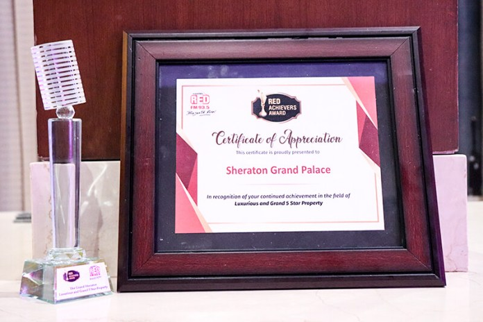SHERATON GRAND PALACE INDORE AWARDED AS LUXURY AND GRAND 5-STAR