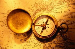 Compass on a Nautical Chart[4]