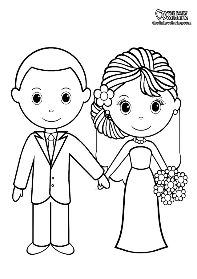 Wedding Coloring Pages - The Daily Coloring