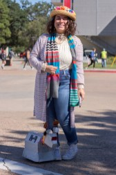 "Physics sophomore Chloe Tovar dressed as her own version of the Doctor from ""Doctor Who."" 