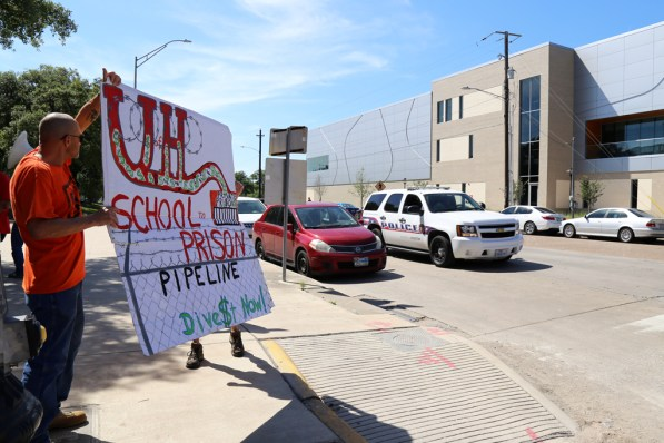 """Big organizations like UH keep pumping money into the system, and if we can pull the money out, we can decrease the size of their operating capital,"" said Organizer Michael Allen. 