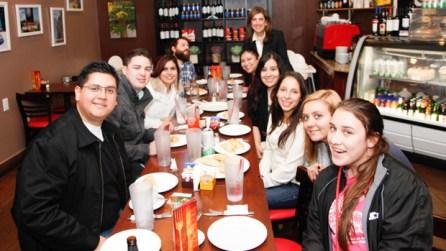 Post tour, the class enjoyed empanadas at Argentina Cafe.   Fernando Castaldi/The Daily Cougar