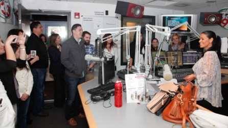 The Univision building is also home to several radio stations--some were on the air.   Fernando Castaldi/The Daily Cougar