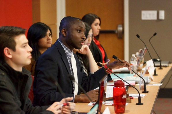 A resolution to initiate the process of impeaching Chief Election Commissioner Kendrick Alridge was presented to the SGA Senate Wednesday night. It voted to suspend Alridge from his position pending further investigation. | Justin Tijerina/The Daily Cougar