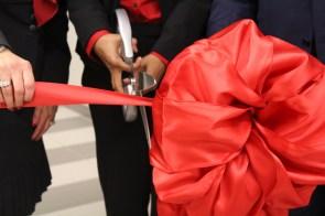 Blair cuts the ribbon. | Aliyah Zaidi/ The Cougar