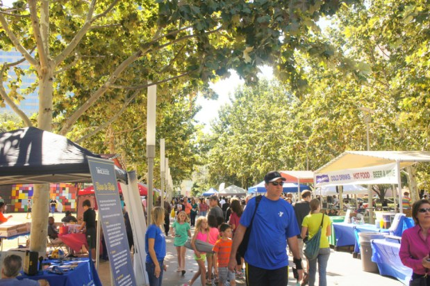 The sunny weather inspired festival-goers learn about how they can get involved in the community. | Valli Challa/ The Cougar
