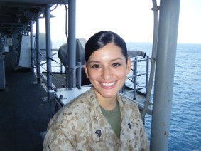 THEN: Sgt. Christina Klein was awarded the Navy and Marine Corps medal. | Courtesy of Christina Klein