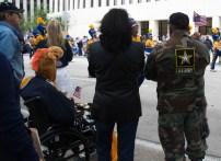 Veterans observing the parade. | Sara Samora/The Cougar