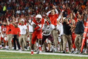 The secondary for UH played a spectacular game, including forcing four turnovers, one of which was returned for a touchdown by senior corner back William Jackson III. | Justin Tijerina/The Cougar