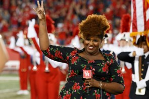 On a star-studded evening, a number of notable Houstonians were present, including Kam Franklin, lead singer of local band The Suffers. | Justin Tijerina/The Cougar