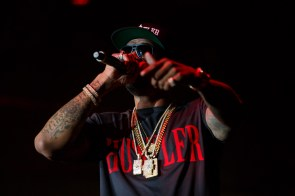 Slim Thug opened up this year's Varsity Red Homecoming concert. | Justin Tijerina/The Cougar