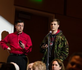 The Student Center Theater had a large number of Houstonians divided between those for Campus Carry and those against it.   Pablo Milanese/The Cougar