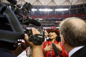 "President Renu Khator told the press that winning the Peach bowl is a statement. ""We have arrived,"" Khator said. 