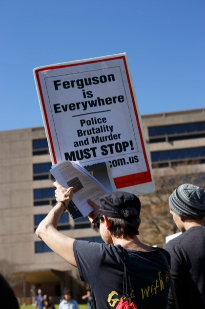 Students also spoke out against the events that happened in Ferguson last year. | Dailey Hubbard/The Cougar