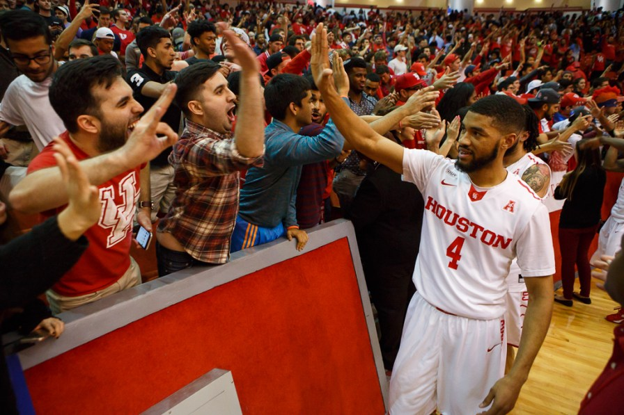 Fans — 6,195 of them — were in attendance to cheer on the Cougars in their close win over the SMU Mustangs. | Justin Tijerina/The Cougar