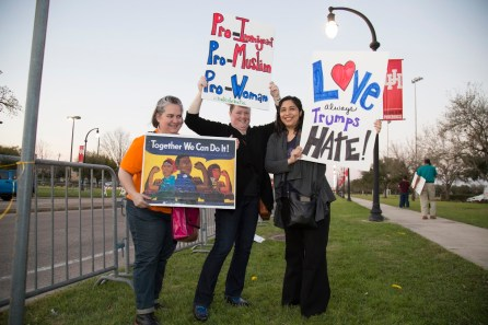 Some protesters expressed more positive viewpoints, rather than bash Trump directly. | Photo by Justin Cross.