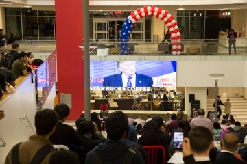 Students will be able to view the debate from the Monumental Stairs in Student Center South | Justin Cross/ The Daily Cougar