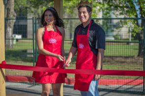 Christian Santillan is crowned Mr. Fiesta and Demi Gratil is crowned Miss Fiesta. | Justin Cross/The Cougar