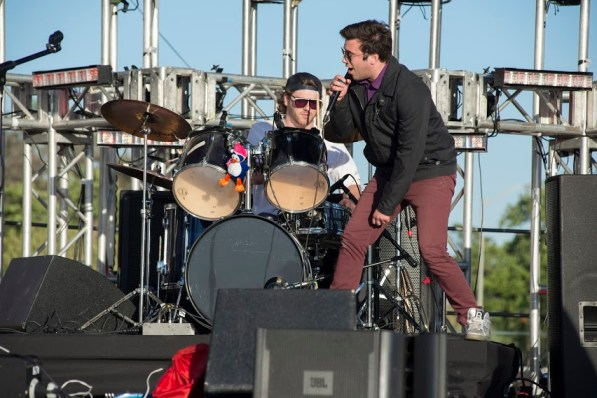 The Learned Astronomer's lead singer Chris Rivera helped kick off Frontier Fiesta festivities Thursday afternoon. | Justin Cross/The Cougar