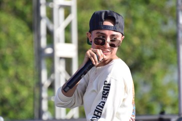 MC i Ckan Ryme opened Frontier Fiesta's day two performances. | The Cougar/Robyn Archer