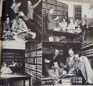 In 1953, one year after these photos were taken, the American Bar Association accredited the school and added more credibility to the new department. | The Houstonian, 1969.