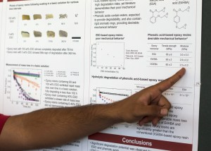 Chemical engineering sophomore Zeshan Rizvi and his team started research during the summer over the degradation of epoxy resins. Since then, they have anticipated there may be an organic alternative found in orange peels and certain vegetables that are more environmentally friendly. | Ajani Stewart/The Cougar