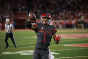 Senior quarterback Greg Ward Jr. threw two touchdowns in the rout of the Cardinals. | Ajani Stewart/The Cougar