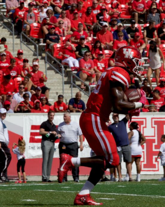Senior cornerback Brandon Wilson made his presence known Saturday by grabbing an interception when the Cougars needed it most.   Ajani Stewart/The Cougar