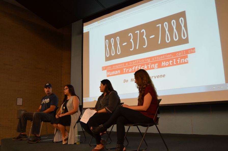 At the end of the panel discussion, members of the audience were encouraged to stay alert for signs of human trafficking, but to call the Human Trafficking Hotline Number instead of intervening if they suspect it. | Isabel Pen/The Cougar