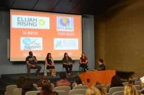 Following the movie's showing, four spokespeople from Houston-area organizations against human trafficking discussed audience questions about the movie and dispelled common myths about the industry and its victims. | Isabel Pen/The Cougar