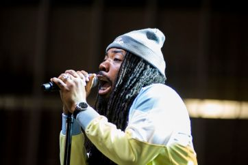 Frontier Fiesta headliner, D.R.A.M., ignited the crowd Saturday, performing his best-known songs, Broccoli and Cha Cha, at the Bud Light Stage. | Justin Cross/The Cougar