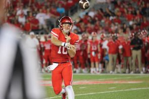 Kyle Allen was almost perfect on the night, completing 31 of 33 passes for 309 yards and two touchdowns. | Thomas Dwyer/The Cougar