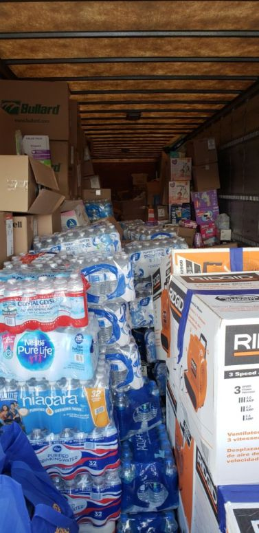 At the end of the second day, the truck had been filled by donors. | Andres Chio/The Cougar
