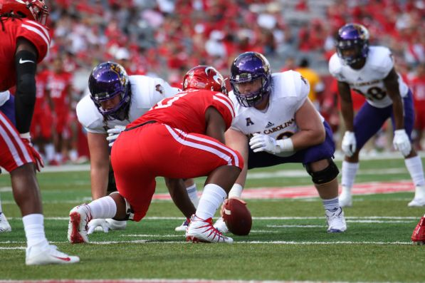 Houston had one sack and six tackles for a loss against East Carolina last season. The Cougars limited the Pirates to just 36 net yards on the ground. | Thomas Dwyer/The Cougar