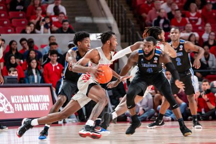 After missing much of November, sophomore DeJon Jarreau has been coming off the bench as a steady contributor. | Corbin Ayres/The Daily Cougar
