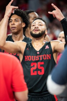 Senior Galen Robinson Jr. led the Cougars with 18 points in a comeback victory against LSU. | Ahmed Gul/The Daily Cougar