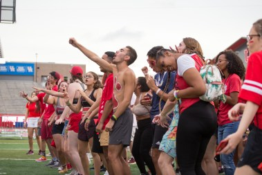 Fans were treated to a performance by The Spazmatics during Cage Rage Fan Fest. | Trevor Nolley/The Cougar