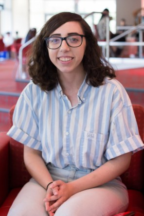 """""""I'm still getting used to all my classes, which has been a little stressful, but as time goes on I'm getting more into my routines,"""" said Anna LeBlanc, a hotel and restaurant management senior.   Katrina Martinez/The Cougar"""