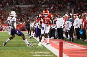 Wide receiver Marquez Stevenson led the American conference in 2018 with five games of at least 100 yards receiving. | Trevor Nolley/The Cougar