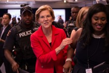 "UH alumna and former professor Sen. Elizabeth Warren stated in her opening remarks she got her opportunity a ""half mile down the road"" at the University of Houston. 