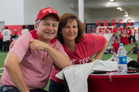 "Craig Hablinski is a UH alum from 1987 who majored in electrical engineering and his wife Gaye Hablinski majored in information systems technology and graduated in 1996. ""We have season tickets, but this is the first time we've done the tailgating. It's pretty neat. I can see where two weeks ago this would have really been great with how hot it was,"" Craig said."