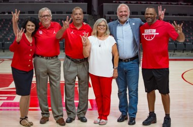 The Penick family was joined by notable UH faces at the ceremony. | Trevor Nolley/The Cougar