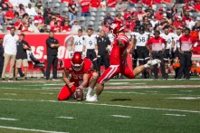 Junior kicker Dalton Witherspoon knocked a field goal through the uprights halfway through the first quarter. | Trevor Nolley/The Cougar