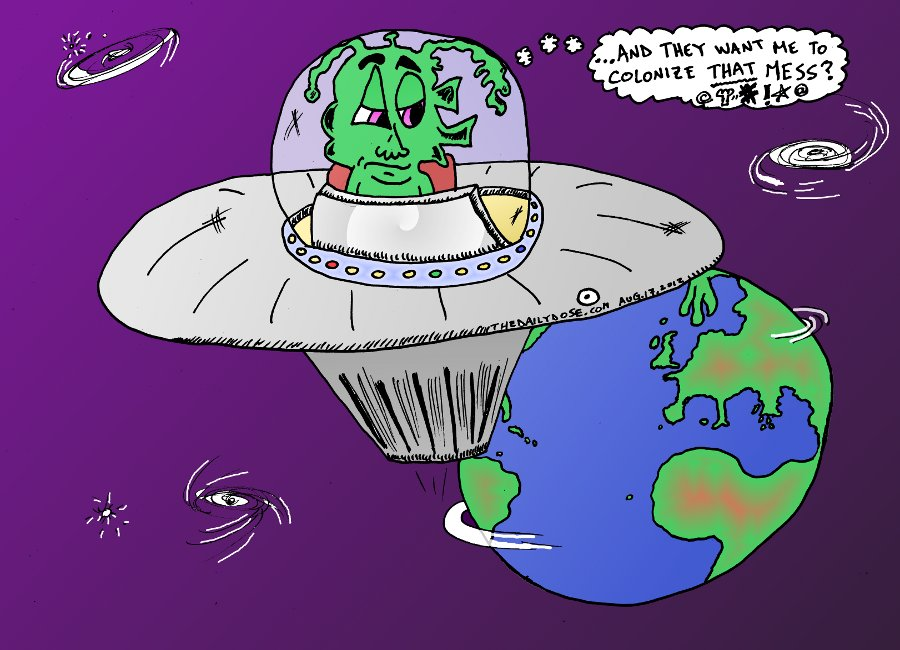alien invader cartoon