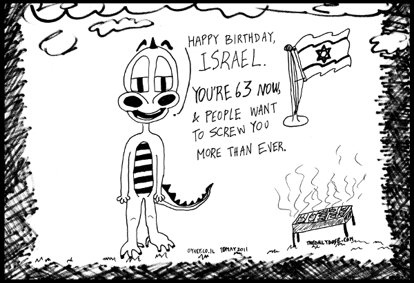 cartoon comic strip featuring happy independence day greetings , from  laughzilla for TheDailyDose.com