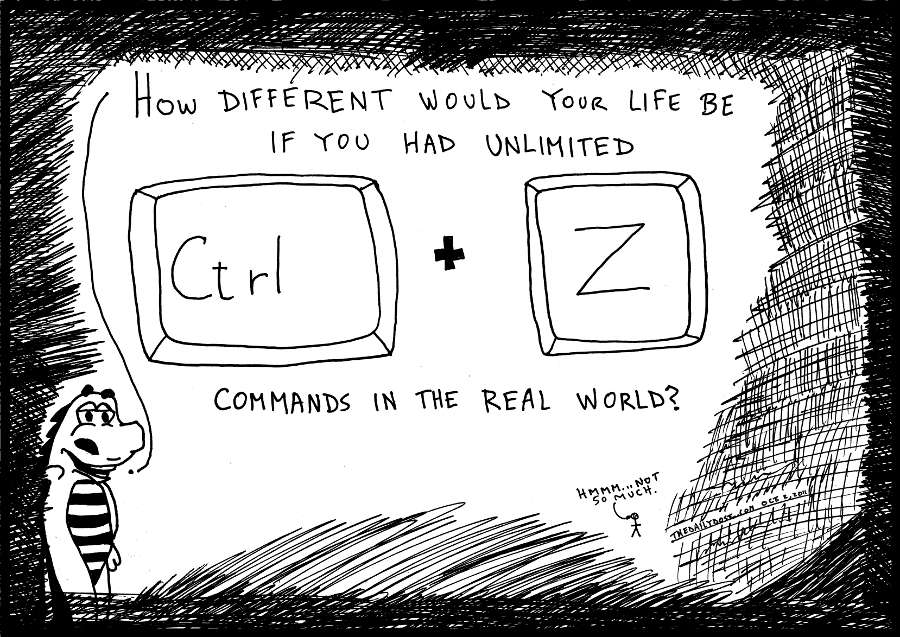 ctrl z editorial cartoon comic strip caricature by laughzilla for the daily dose