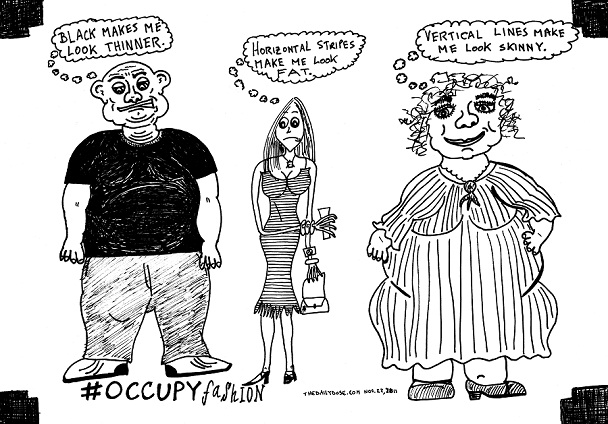 #ows #occupyfashion editorial cartoon by laughzilla for the daily dose