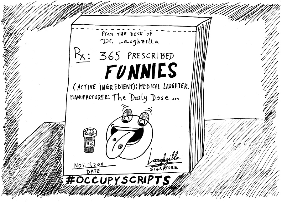 occupy scripts editorial cartoon by laughzilla for thedailydose.com