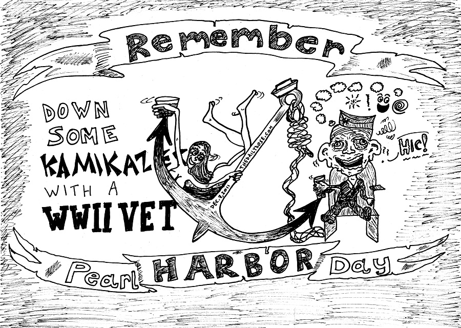 remember pearl harbor day editorial cartoon by laughzilla for thedailydose.com