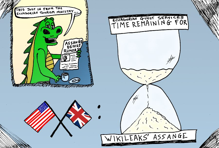 Wikileaks Assange Ecuador Embassy Debacle
